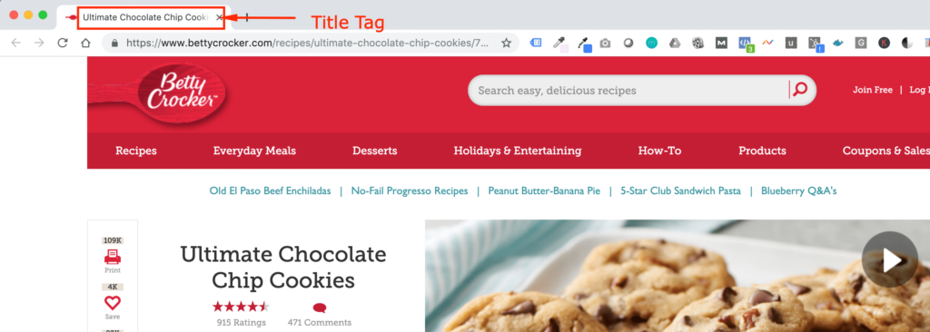 Browser Tab Title Tag