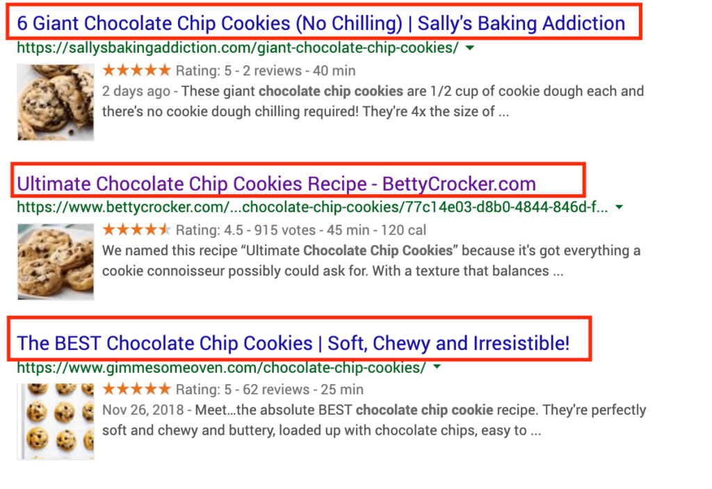 Google SERP Title Tag Display