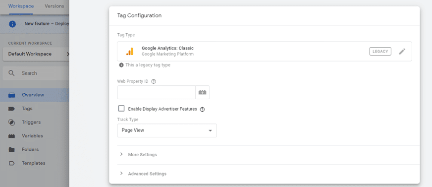 Google Analytics tag configuration in google tag manager
