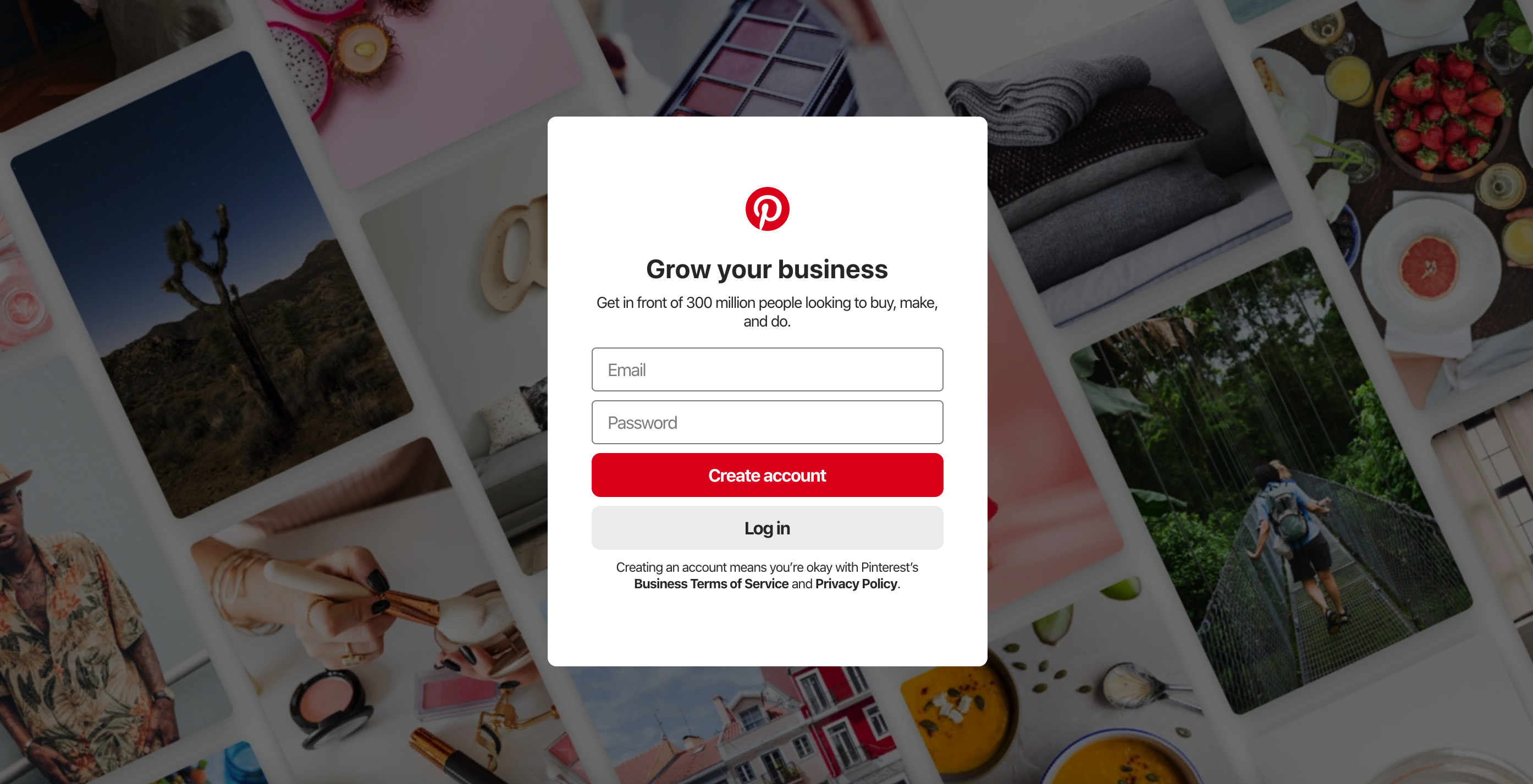 Sign Up for Free Pinterest Business Account